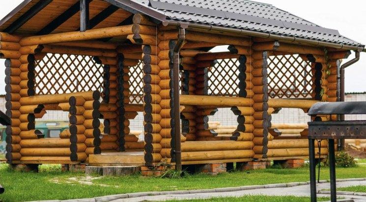 Деревянная беседка недорого во Владимире для дачи и сада