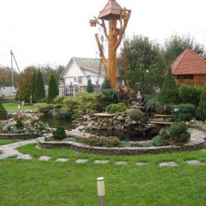 Дизайн участка загородного дома: красивый, удобный, функциональный фото примеров