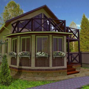 Дом с эркером — красивое и практичное решение по организации внутреннего пространства загородного дома (фото + видео)