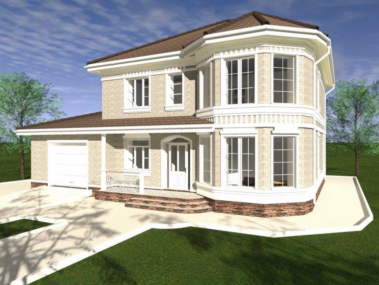 Дом с эркером - красивое и практичное решение по организации внутреннего пространства загородного дома (фото   видео)