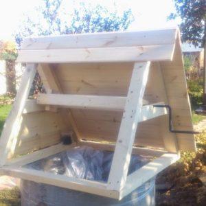 Домик для колодца — красивое и функциональное сооружение своими руками (фото + видео)