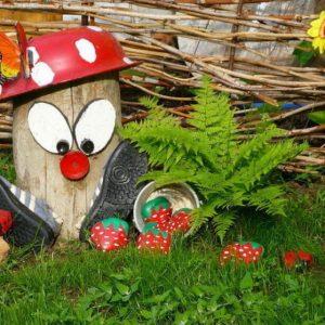 Фигурки для сада — простой декор, руководство по изготовлению своими руками