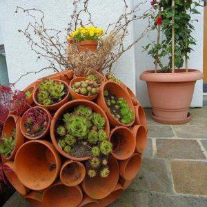 Кашпо для сада — красивая ваза для посадки растений изготавливаем своими руками (фото + видео)