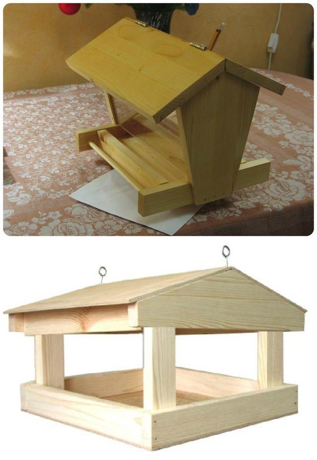 предлагаю мастер пошаговое фото изготовления деревянной кормушки своими руками
