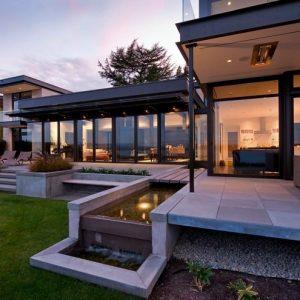 Современный дизайн коттеджа — жить за городом с комфортом, правила планировки и проектирования загородного дома и участка