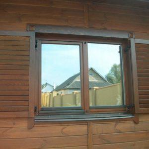 Ставни на окна — дань традициям и современные требования к функциональности и безопасности загородного дома (фото + видео)