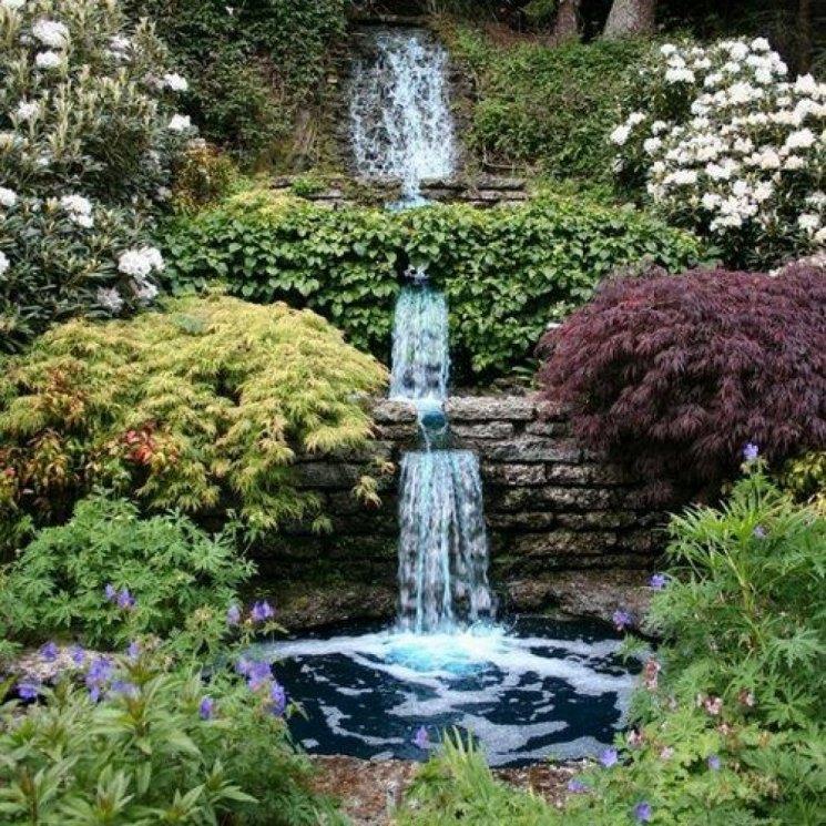 Водопад в огороде фото