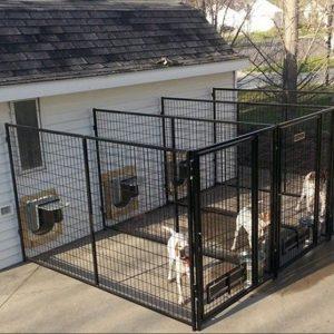 Вольер для собаки строим самостоятельно, выбор материалов, конструкции (фото + видео)